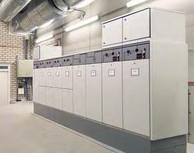 switchgear. The system provides reliable switching, protection, metering and distribution of electrical energy.