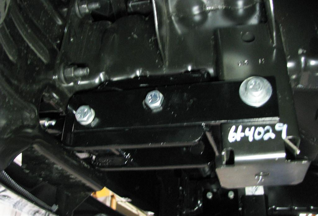 The photo above shows the recommended installation of the cables to frame of vehicle.