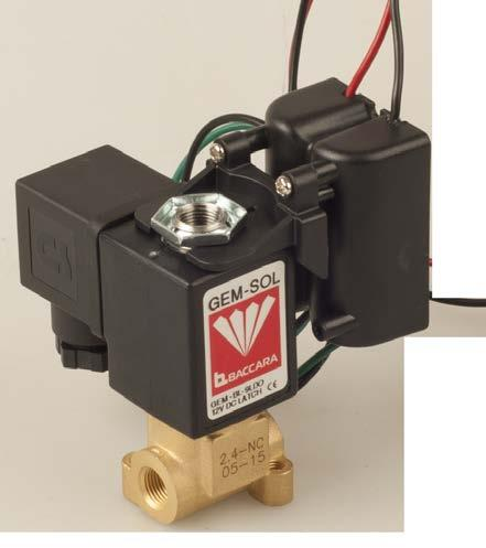 VALVES GEM-LDO Long distance operator 2 Way, 3 Way NC, NO 39 91.2 Assembled with GEM-S solenoid 86 91.