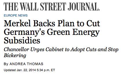 an increasing of energy costs, which will harm jobs in Germany in a serious way.