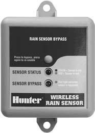 HUNTER SENSORS WIRELESS RAIN CLIK TM The first reliable wireless sensor.
