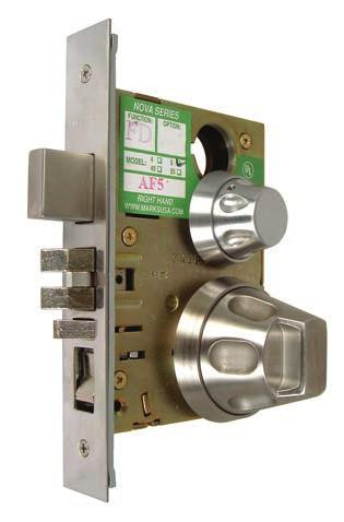 Series 5SS55 Institutional Life Safety Mortise Locksets - Knobs Performance Specifications: Life Test: 1,500,000 cycles minimum.