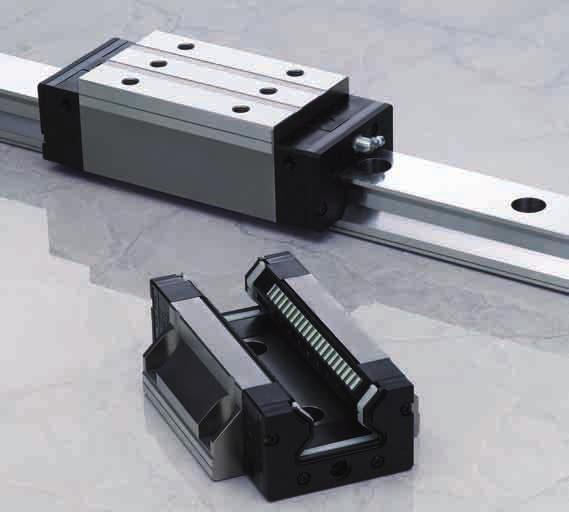 NSK Linear Guides A roller guide series employing advanced analysis technology offers super-high load capacity
