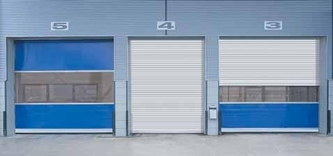 Benefits of door combinations During the day energy is saved, the flow of materials is optimised and drafts are reduced thanks to the high opening and closing speeds of the flexible high-speed door.