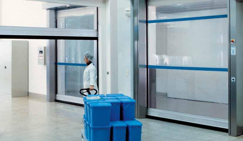 V 3015 Clean Transparency for Clean Rooms in the Chemical and Pharmaceutical Industries Special curtain for pressure differences Air purification in clean rooms can result in pressure differences