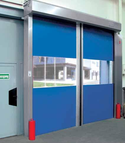 H 3530 The Fast-Action Horizontal Internal Door Opens super-fast, crash situations virtually excluded Our speediest door for internal applications.