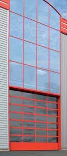 headroom where no roof load is permitted. Fewer wearing parts make folding doors easy to repair and service.