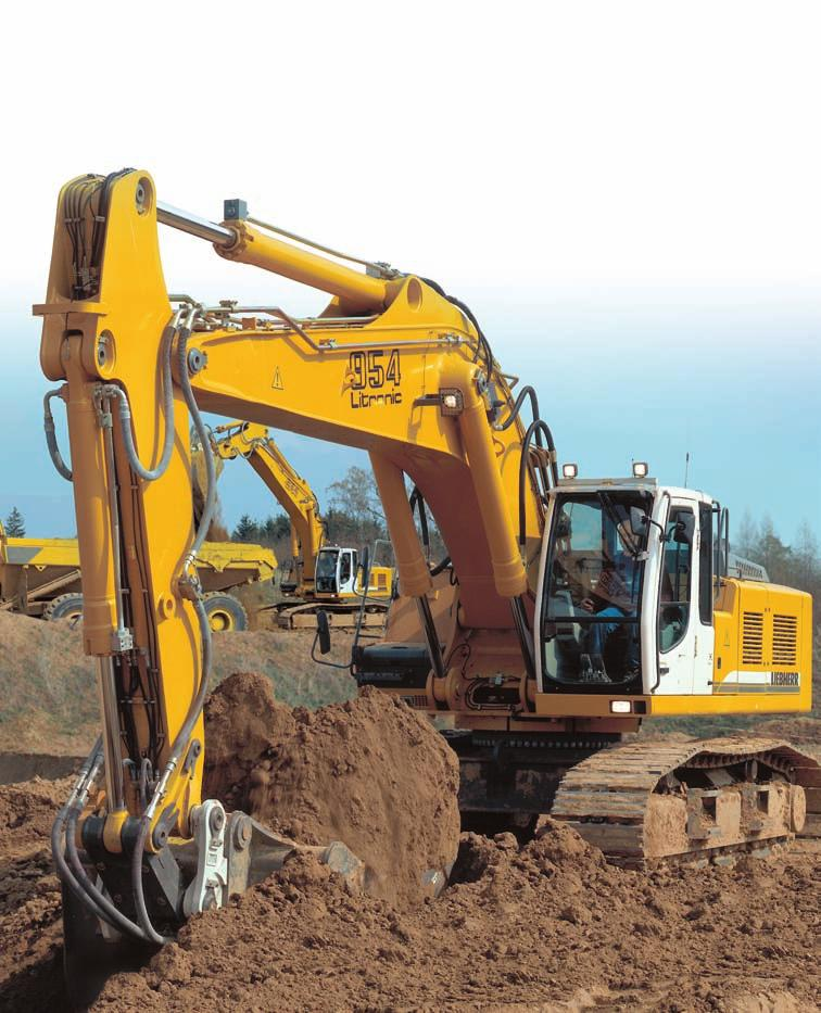 Crawler Excavator R 954 C Operating Weight with Backhoe Attachment: 49,300-60,400 kg Operating Weight with Shovel