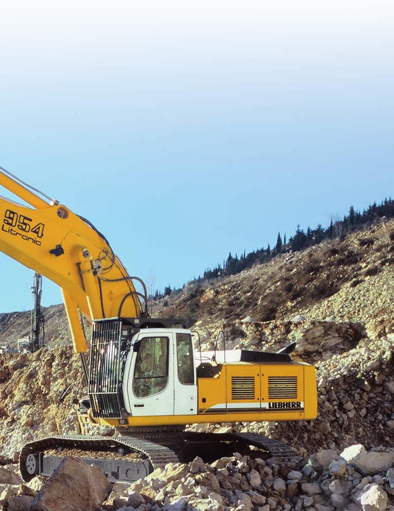 Performance Liebherr crawler excavators feature state-of-the-art technology and high-quality workmanship.