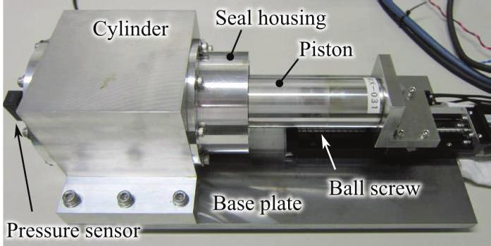 6 shows the appearance. One or two magnetic fluid seals could be mounted on the vacuum cylinder and were fixed on the base plate.