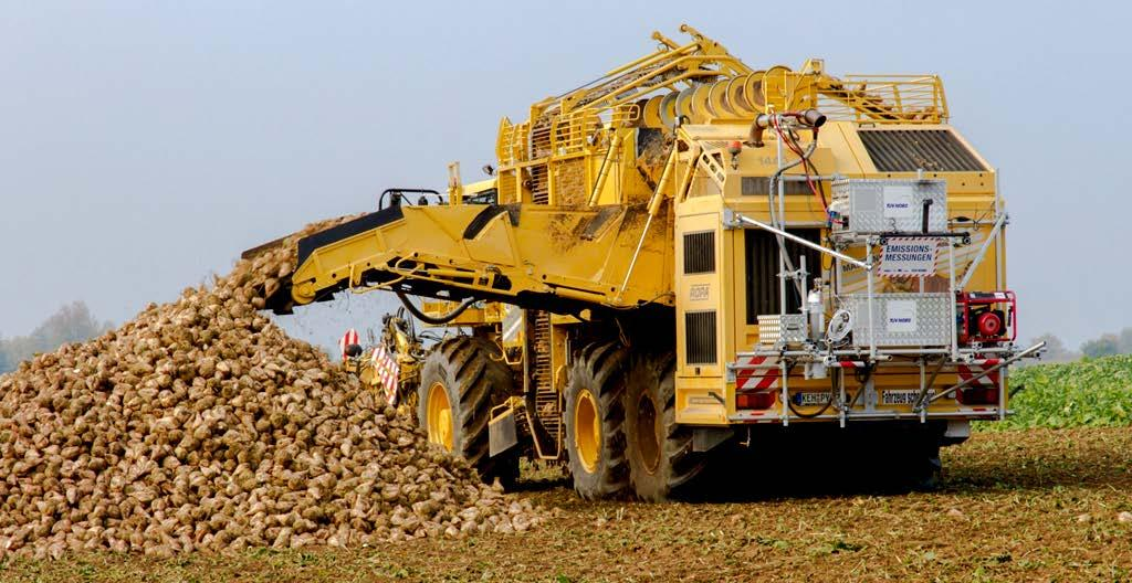 PEMS installation at NRMM Challenges Beet Harvester