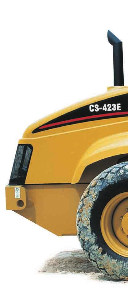Introducing the CS-423E Designed to meet your smooth drum compaction needs. Engineered for optimum results, the CS-423E features a Caterpillar 3054B engine rated at 60 kw (80 hp).