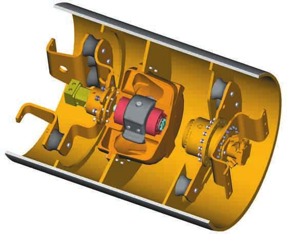 Vibratory System The pod-style vibratory system delivers superior compactive force while offering serviceability advantages.