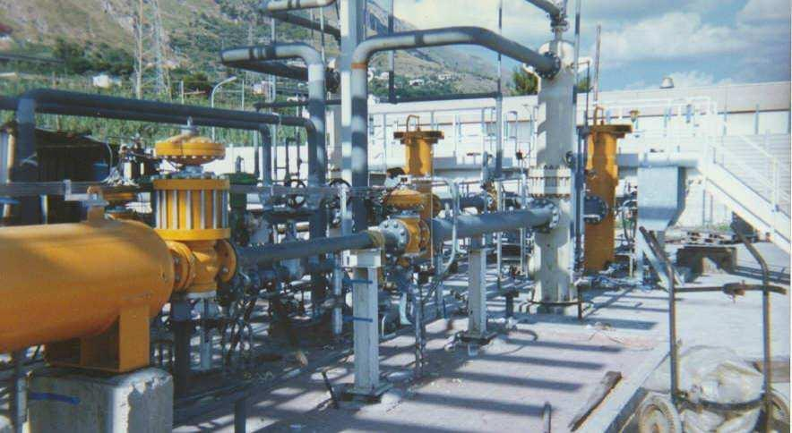 NATURAL GAS REDUCING AND METERING PLANT 1993-1997 GAS METERING & REDUCING SYSTEMS ENEL - TERMINI IMERESE - ITALY NATURAL GAS REDUCING &
