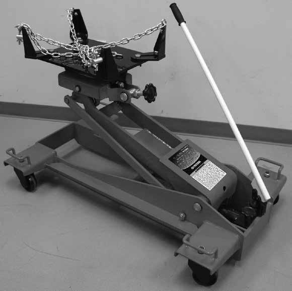 MODEL # 791-7180 A 1-1/2 TON TRANSMISSION JACK BEFORE USING THIS DEVICE, READ THIS MANUAL COMPLETELY AND THOROUGHLY, UNDERSTAND ITS OPERATING PROCEDURES, SAFETY S AND MAINTENANCE REQUIREMENTS.