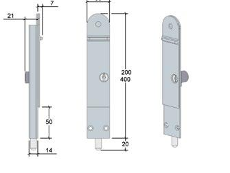 DL SPECIFICATIONS max wind load min door thickness security dropbolt lengths throw length 450kg force 35mm keyed, non-keyed 200/400mm 20mm finishes PVD brass natural anodised black powdercoat white