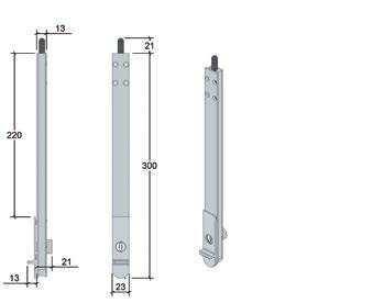 Centor DS Dropbolt Only 36mm in width, Centor DS is the ideal dropbolt for tall timber windows with narrow framing.
