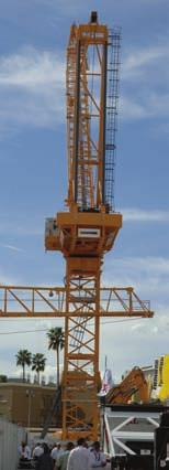 On display from PM Oil and Steel was the 100 SP telescopic crane.