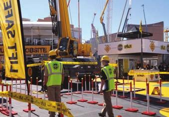 telescopic industrial crane Mike Cotter, Omega Riggers and Erectors president,