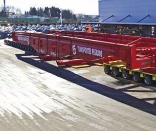 SPECIALIZED TRANSPORT Faktor 5 double Specialized transport equipment manufacturer Goldhofer has delivered two of its new Faktor 5 high girder bridge transporters to heavy haulage companies in South
