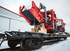 ALS TRANSPORTS TEREX 883 TO KAZAKHSTAN A recent project for WWL ALS, a specialist in global logistics and freight forwarding, was the transport of a Terex 883 tracked screen machine from Ireland to