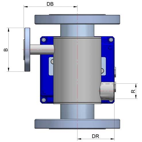 Without contact with the process fluid Flanged or threaded pipe fittings (BSP, NPT, DIN 2501) Other standards on request Pipe fitting diameters according to the table below Stainless steel EN 1.