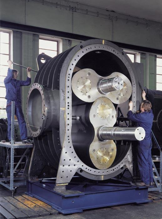 The largest Aerzen Positive Displacement Blower for the oil-free conveying and compression of 65.