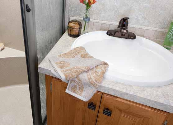2O11 ALLEGRO / bathroom Your own oasis on the open road. There s nothing like a hot shower to start the day or after a busy day of traveling.