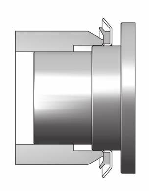 liding surface The VRM axial seal runs against a sliding surface placed at right angles to the shaft, e.g. the flange cover or end wall of a bearing housing.