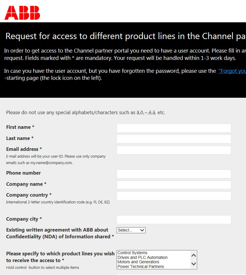 The link for Channel partners for applying Channel partners apply