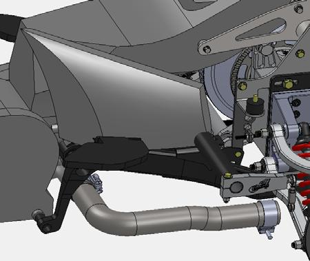 Exhaust Installation 1. See Fig s. 1 & 2. Install exhaust extensions onto OEM header pipes (longer extension is used on the LHS).