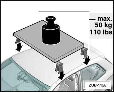 2 Safety notes Installation instructions - Audi A3 (8V3) 2012 Permissible roof load Do not exceed the permissible roof load of 50 kg