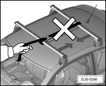Load Do not tension roof bars against each other Do not tension roof bars against each other risk of accident!