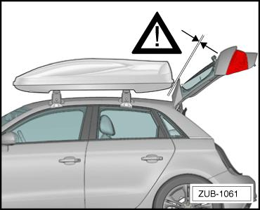 carefully when installing add-on components (such as a roof box, bicycle rack etc.
