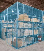 PARTITIONS & ENCLOSURES WIRE MESH PARTITIONS & ENCLOSURES Rugged KLETON wire mesh partitions and enclosures provide maximum security at low cost for tools, valuable inventory, hazardous materials,