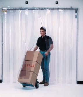 STRIP CURTAIN DOORS Everything you need in one package to install your own strip curtain door and save money!