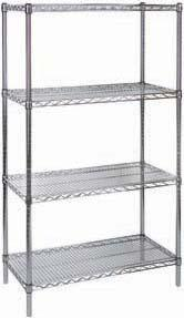 WIRE SHELVING WIRE SHELVING Heavy-gauge chrome-plated shelves with open wire design minimize dust, improve air circulation and provide greater visibility of stored items Post's circular grooves