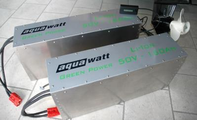 50V series 48V nominal For aquawatt Green Power electric outboards and all other 48/50 Volt applications.