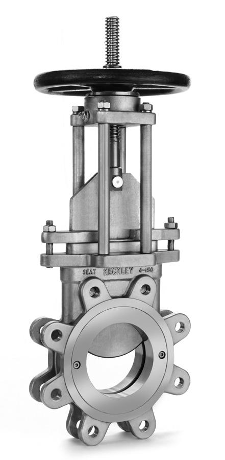 Style KGV Carbon Steel (ASTM A 216, Grade WCB) 150 PSI Stainless Steel (ASTM A 351, Grade CF8) 150 PSI Stainless Steel (ASTM A 351, Grade CF8M) 150 PSI Knife Gate Valve APPLICATIONS Pulp and paper,