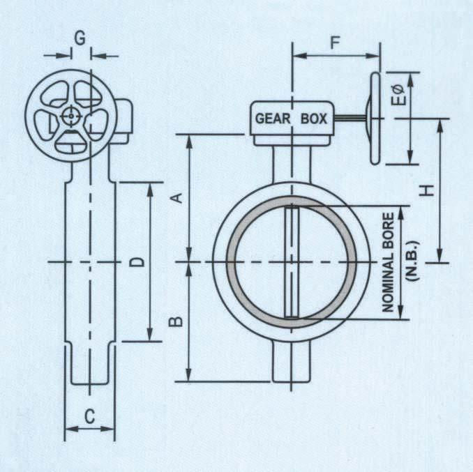 Installation Dimensions VALVE SIZE (N.B.) 50 (2 ) 65 (2.