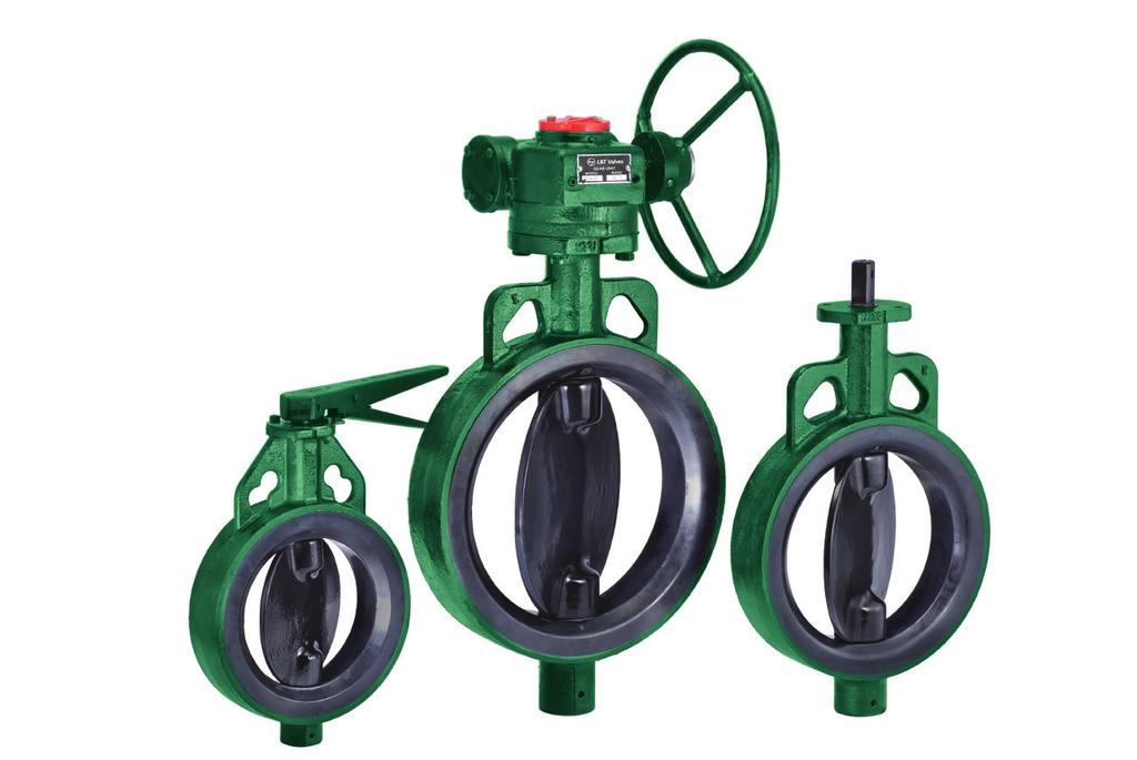Aquaseal Integrally-moulded Butterfly Valve - PN 10 Aquaseal Integrally-moulded Butterfly Valve is available in sizes from 50 mm (2 ) to 600 mm (24 ), in PN 10 pressure rating.