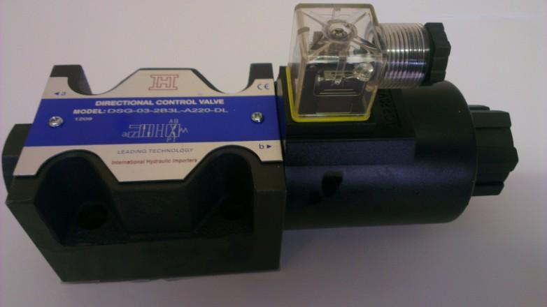 DSG Series Solenoid Directional Control Valves DSG series directional control valves are solenoid operated directional spool valves, these valves are used to the start, stop and direct oil flow