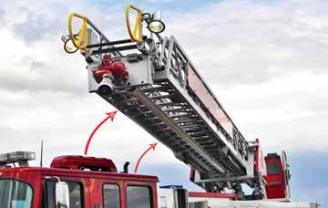 100 & 78 SIZES AVAILABLE WITH 750 POUND TIP LOAD CAPACITY THE SAFEST SHORT JACKING POSSIBLE The Rosenbauer SMART Aerial system uses