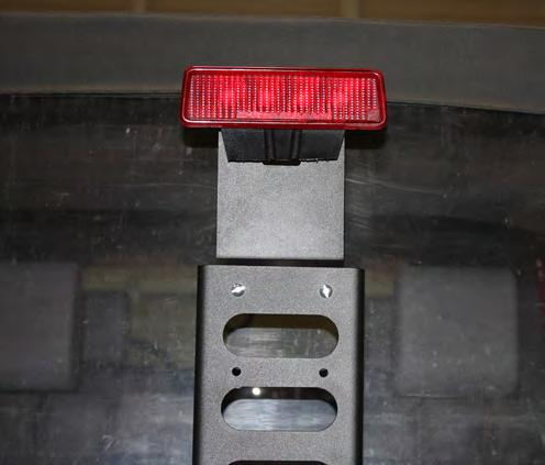 17. You are now ready to install the third brake light bracket using hardware provided refer to your exploded view and parts list.