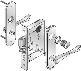8800RL Reflections trim introduction Yale 8800RL mortise locks are available with Reflections lever trim, a comprehensive line of highly stylized lever handles.