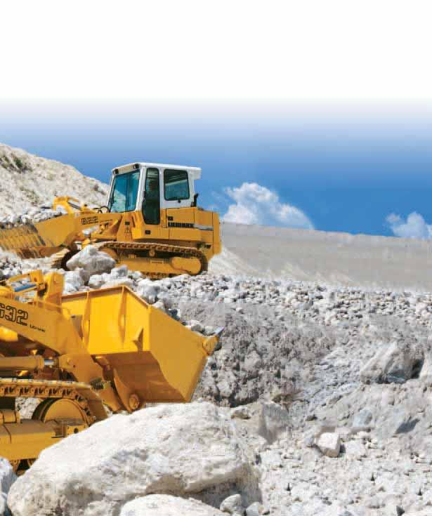 Performance Liebherr crawler loaders provide exceptional handling performance even in difficult terrain.