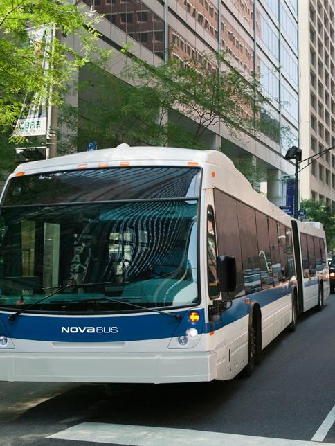 Nova Bus Nova Bus is a leading North American provider of sustainable transit solutions,
