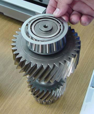 Countershaft gears not serviceable if damaged, replace assembly
