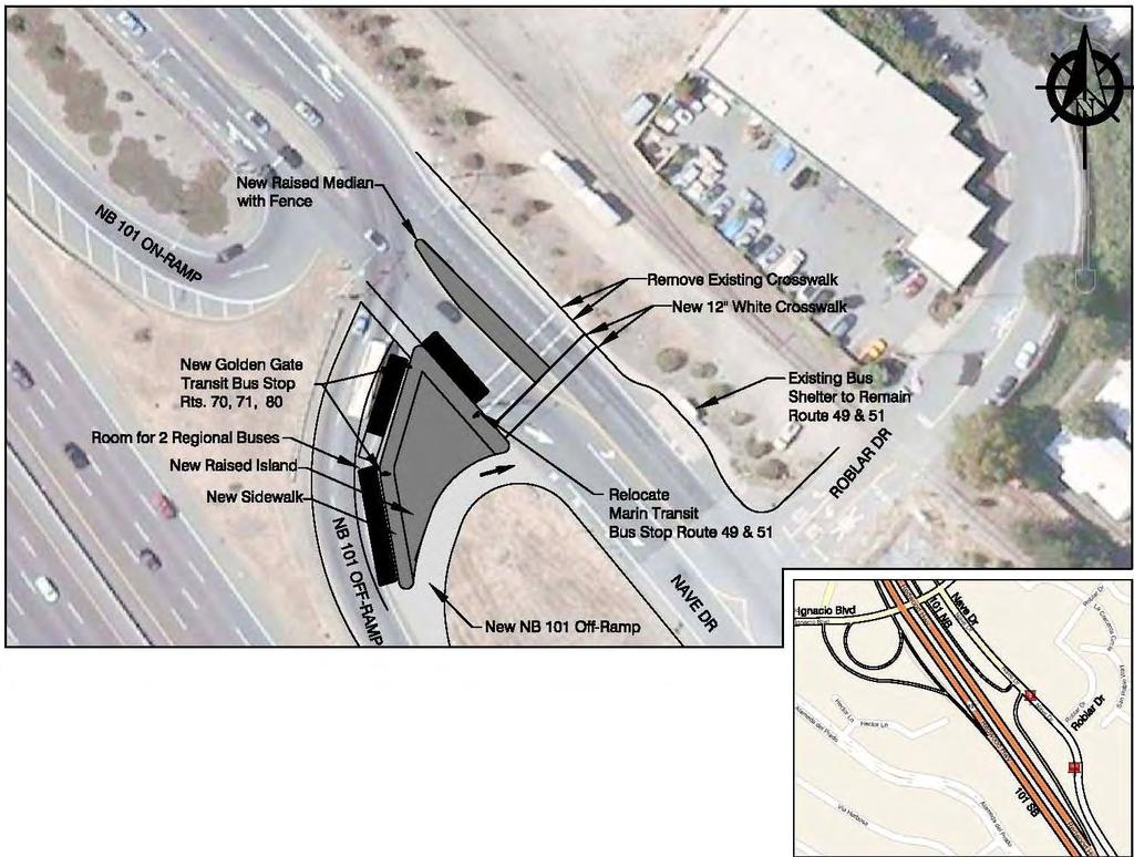 Figure 8 - Pedestrian and Bus Stop Improvements at Nave Drive and