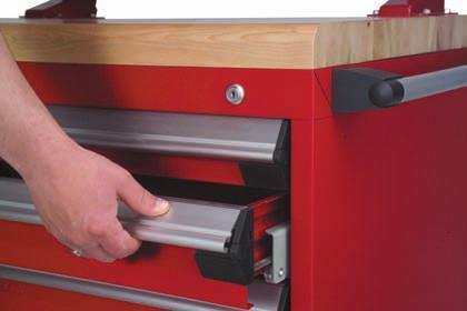 Mini-Racking Accessories Locking and Security Mechanisms Vertical Security Bar KA, KD or MK see page 184 RE80 Locks a bank of drawers in shelving with either a key or a padlock; To receive a safety